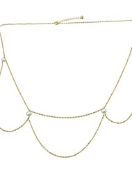 cheap -Waist Chain - Women's Gold Sexy / Rock Circle Body Jewelry For Prom / Bar