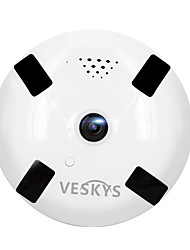 cheap -VESKYS® 960P 1.3MP 360 Degree Fish Eye Lens Wireless Wi-Fi Full View IP Camera With infrared night vision