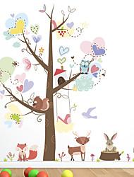 Недорогие -Наклейка на стену Декоративные наклейки на стены - Простые наклейки Животные Цветочные мотивы / ботанический Положение регулируется