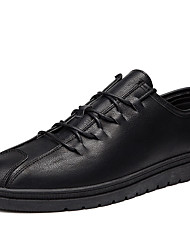 Недорогие -Муж. Официальная обувь Полиуретан Весна / Осень Удобная обувь Туфли на шнуровке Черный / Серый / Коричневый
