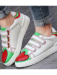 baratos -Mulheres Sapatos Couro Ecológico Primavera Outono Conforto Tênis Sem Salto para Casual Amarelo Verde Azul