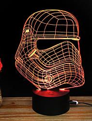 Недорогие -3D ночной свет Поменять USB Стресс и тревога помощи Украшение Безопасность Креатив Меняет цвета 5V