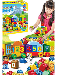 cheap -Large particles Numbers Train Building Blocks 50pcs Parent-Child Interaction Train Gift