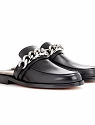 Недорогие -Жен. Обувь Искусственное волокно Весна Осень Удобная обувь Башмаки и босоножки На плоской подошве для Черный