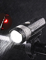 cheap -Front Bike Light LED Cycling Portable Waterproof Li-ion 500lm Lumens Rechargeable Power Camping / Hiking / Caving Cycling / Bike - Wheel