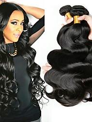 Недорогие -6 Связок Бразильские волосы Волнистый Натуральные волосы Накладки из натуральных волос Естественный цвет Ткет человеческих волос Удлинитель / Горячая распродажа Расширения человеческих волос Все
