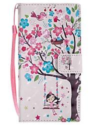 abordables -Coque Pour Sony Xperia XZ Xperia XA1 Porte Carte Portefeuille Avec Support Clapet Magnétique Coque Intégrale Arbre Dur faux cuir pour