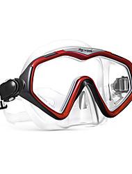 abordables -WAVE Masque de Snorkeling / Masque de Nage Anti buée Deux-fenêtre - Natation, Plongée Caoutchouc silicone, PVC (Polyvinylchlorid), Verre