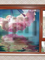 abordables -Film de fenêtre et autocollants Décoration Fleur Moderne Fleur PVC Autocollant de Fenêtre Mat