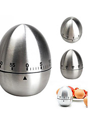 cheap -Kitchen Tools Stainless Steel Creative Kitchen Gadget Egg Kitchen Timer 1pc