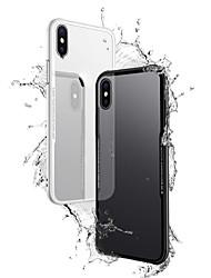 baratos -Capinha Para Apple iPhone X iPhone 8 Plus Transparente Capa traseira Sólido Rígida Vidro Temperado para iPhone X iPhone 8 Plus iPhone 8