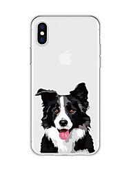 economico -Custodia Per Apple iPhone X iPhone 8 Plus Fantasia / disegno Per retro Con cagnolino Cartoni animati Animali Morbido TPU per iPhone X