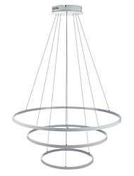 cheap -Lightinthebox 3-Light Circular Pendant Light Ambient Light - LED, 110-120V / 220-240V, Warm White / White / Dimmable With Remote Control,