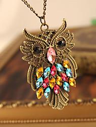 Недорогие -Ожерелья с подвесками - Сова Милая, Мода Цвет радуги 46 cm Ожерелье Назначение Вечеринка / ужин, Повседневные