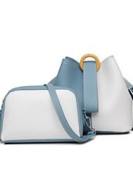 povoljno -Žene Torbe PU Bag Setovi 2 kom Patent-zatvarač za Kauzalni Sva doba Plava Crn Žutomrk