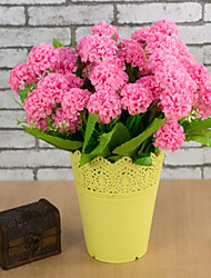 baratos -Flores artificiais 1 Ramo Estilo simples / Pastoril Estilo Hortênsia Flor de Mesa