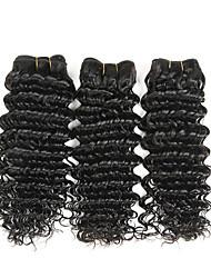 abordables -Cheveux Péruviens Ondulé Tissages de cheveux humains 50g x 3 Grosses soldes Extention Extensions Naturelles Tous Regalos de Navidad Noël
