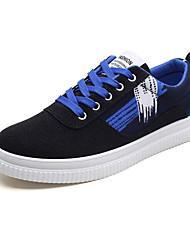 baratos -Mulheres Sapatos Tecido Primavera / Outono Conforto Tênis Sem Salto Ponta Redonda Preto / Vermelho / Black / azul