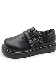 preiswerte -Damen Schuhe Gummi Frühling Komfort Outdoor Flacher Absatz Runde Zehe Weiß / Schwarz / Rosa