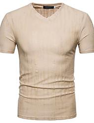 baratos -Homens Camiseta Moda de Rua Sólido