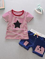 Недорогие -Дети (1-3 лет) Мальчики Полоски С короткими рукавами Набор одежды