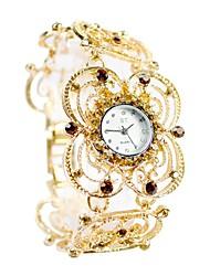 Недорогие -Жен. Для пары Кварцевый Модные часы Спортивные часы Повседневные часы Китайский Повседневные часы сплав Группа Роскошь Мода Черный