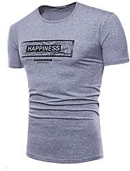 baratos -Homens Camiseta Básico Sólido Letra