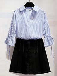 Недорогие -Жен. Бант Рубашка Очаровательный Активный Полоски