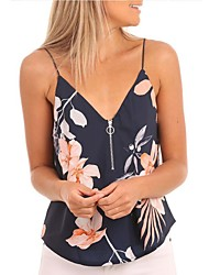 baratos -Mulheres Malha Íntima Básico Moda de Rua Estampado,Floral
