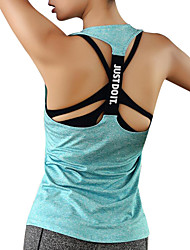 cheap -Women's Open Back Running Tank Top - Blue, Pink, Grey Sports Top Yoga, Fitness, Gym Activewear Quick Dry, Breathability, Sweat-Wicking Stretchy