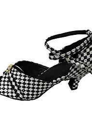 preiswerte -Damen Schuhe für den lateinamerikanischen Tanz / Salsa Tanzschuhe Glitzer Absätze Strass Maßgefertigter Absatz Maßfertigung Tanzschuhe