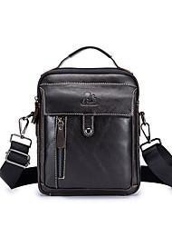 preiswerte -Herrn Taschen Leder Umhängetasche Reißverschluss Schwarz