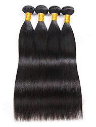 cheap -Brazilian Hair Straight Human Hair Extensions 4 Bundles Human Hair Weaves Extention / Hot Sale Natural Black Human Hair Extensions All