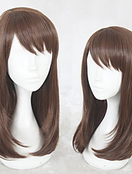 cheap -Synthetic Wig Straight Layered Haircut Natural Hairline Light Brown Women's Capless Cosplay Wig Long Synthetic Hair Christmas