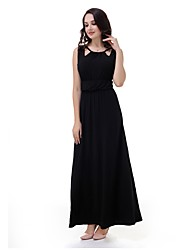 cheap -TS - Sweet Curve Women's Plus Size Swing Dress - Solid Colored High Waist Maxi