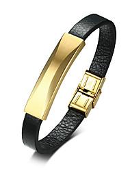 billiga -Herr Läder Armband - Läder Mode Armband Svart Till Dagligen Utekväll