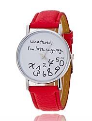 Недорогие -Жен. Повседневные часы / Модные часы Китайский Повседневные часы PU Группа На каждый день / Мода Черный / Белый / Синий / Один год