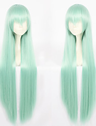 cheap -Synthetic Wig Straight Layered Haircut Synthetic Hair Natural Hairline Green Wig Women's Long Capless / Yes
