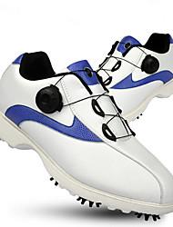Недорогие -Муж. Обувь для игры в гольф Резина Гольф, Пригодно для носки, Дышащий Наппа Leather / Кожа Черно-белый