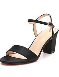 baratos -Mulheres Sapatos Seda Primavera Verão Conforto Sandálias Salto Robusto Pedrarias para Casamento Festas & Noite Dourado Preto Vermelho