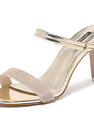 cheap -Women's Shoes Patent Leather Summer Fall Basic Pump Gladiator Sandals Stiletto Heel for Party & Evening Gold Silver