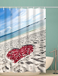 abordables -Rideaux de douche et anneaux Moderne Polyester Nouveauté Imperméable Salle de Bain