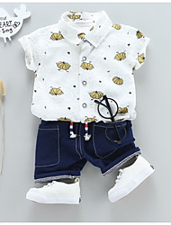 cheap -Kids Boys' Print Short Sleeves Clothing Set