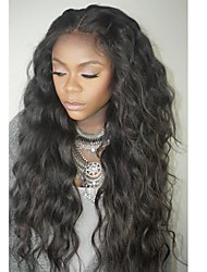 cheap -Unprocessed Human Hair Full Lace Wig Brazilian Hair Wavy Wig Layered Haircut 130% With Baby Hair / For Black Women Black Women's Short / Long / Mid Length Human Hair Lace Wig