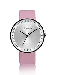 cheap -Women's Fashion Watch Quartz Casual Watch PU Band Analog Fashion Minimalist Black / Brown / Pink - Black Brown Pink
