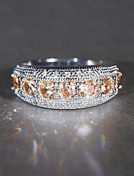 cheap -Synthetic Aquamarine / Cubic Zirconia Band Ring - Vintage, Elegant 5 / 6 / 7 Champagne For Wedding / Engagement / Ceremony