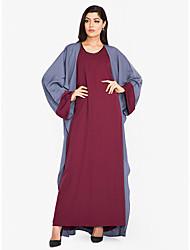 cheap -Women's Sophisticated Street chic Swing Jalabiya Abaya Dress - Color Block, Cut Out