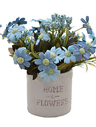 cheap -Artificial Flowers 1 Branch European / Pastoral Style Daisies Tabletop Flower