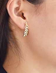 cheap -Women's Leaf 1pc Drop Earrings - Casual / Fashion Gold / Silver / Rose Gold Earrings For Daily / Date