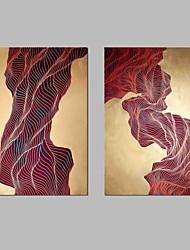 baratos -Cópias da lona esticada moderna, dois painéis de lona horizontal impressão panorâmica decoração da parede decoração de casa